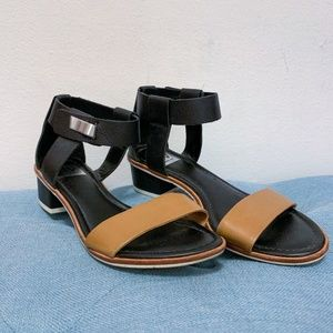 Dolce Vita Brown and Black Sandal with Heel Size 7
